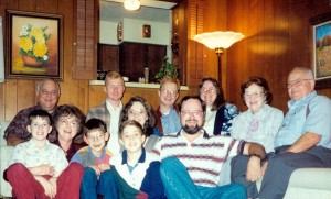 Robert (Ron's son), Us (Rick & Virginia), Derek (Kathy & Bill's son), Our Daughter JoAnn's husband (Ken), JoAnn & their son (Robert), Our Daughter Kathy's husband (Bill), Our son (Ron), Our Daughter Kathy, Rick's Parents (Doris & Jim).